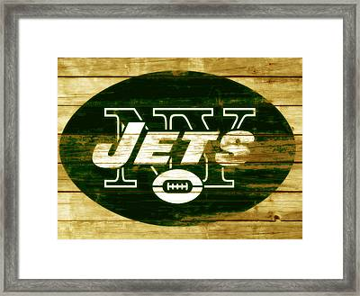 The New York Jets 3a Framed Print by Brian Reaves