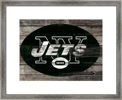 The New York Jets 3f Framed Print by Brian Reaves