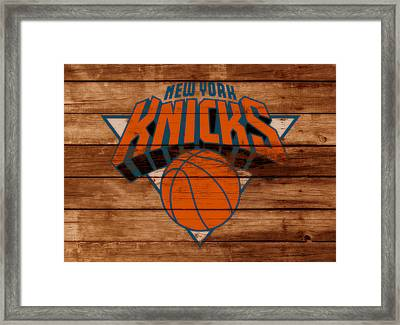 The New York Knicks 3a                        Framed Print by Brian Reaves