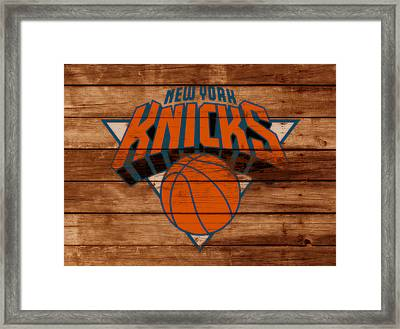 The New York Knicks 3b                        Framed Print by Brian Reaves