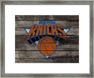 The New York Knicks 3e                        Framed Print by Brian Reaves