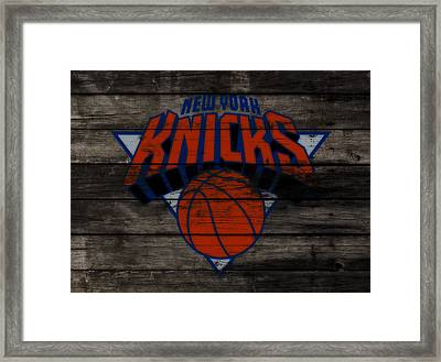 The New York Knicks 3f                       Framed Print by Brian Reaves