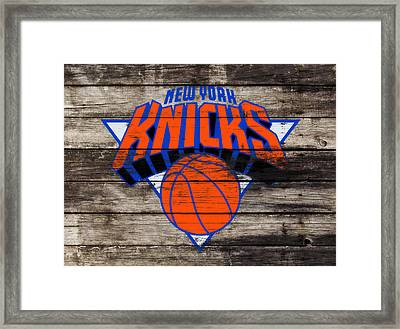 The New York Knicks 3h                       Framed Print by Brian Reaves