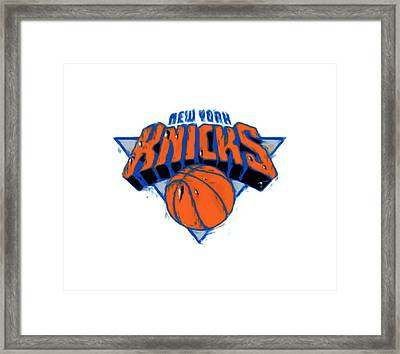 The New York Knicks Framed Print by Brian Reaves