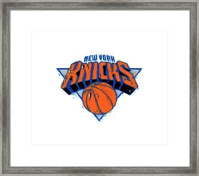 The New York Knicks Framed Print