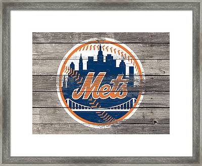 The New York Mets 3c Framed Print by Brian Reaves