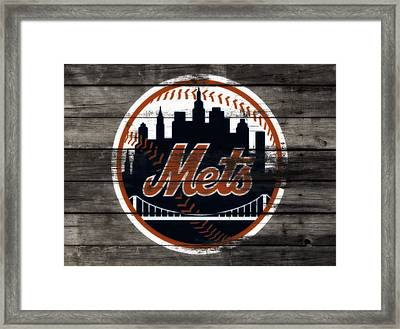 The New York Mets 3e Framed Print by Brian Reaves