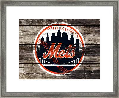The New York Mets 3f Framed Print by Brian Reaves