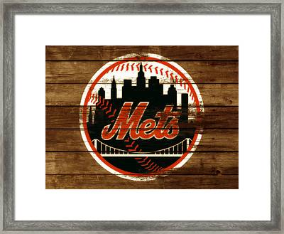 The New York Mets 3h Framed Print by Brian Reaves