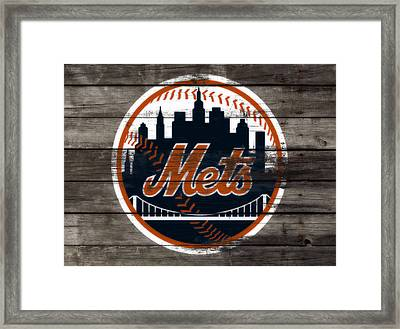 The New York Mets 3i Framed Print by Brian Reaves