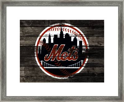 The New York Mets 3j Framed Print by Brian Reaves