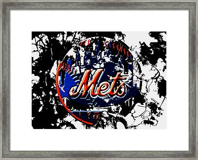 The New York Mets 6a Framed Print by Brian Reaves