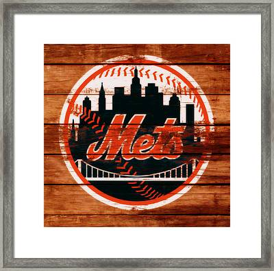 The New York Mets C1 Framed Print by Brian Reaves