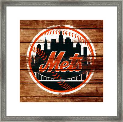 The New York Mets C2 Framed Print by Brian Reaves