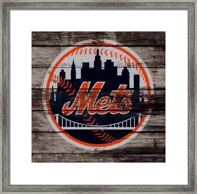 The New York Mets C3 Framed Print by Brian Reaves