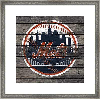 The New York Mets C4 Framed Print by Brian Reaves