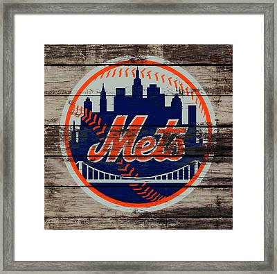 The New York Mets C5 Framed Print by Brian Reaves