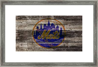The New York Mets W1 Framed Print by Brian Reaves