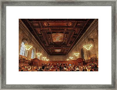 Framed Print featuring the photograph The New York Public Library by Jessica Jenney