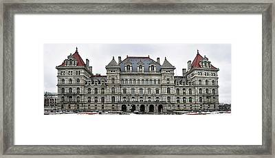 Framed Print featuring the photograph The New York State Capitol In Albany New York by Brendan Reals