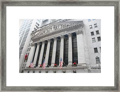 The New York Stock Exchange Framed Print by John Telfer