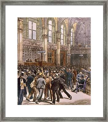 The New York Stock Exhange Framed Print by Everett