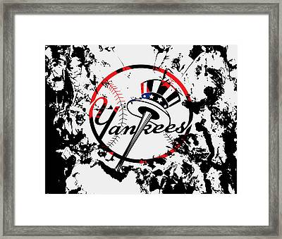 The New York Yankees 1b Framed Print by Brian Reaves