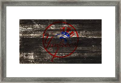 The New York Yankees 1w Framed Print by Brian Reaves