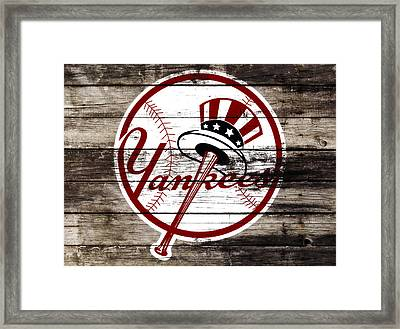 The New York Yankees 3a     Framed Print by Brian Reaves
