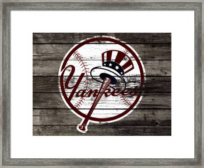 The New York Yankees 3b     Framed Print by Brian Reaves