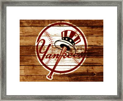 The New York Yankees 3e     Framed Print by Brian Reaves