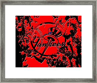 The New York Yankees B1 Framed Print by Brian Reaves