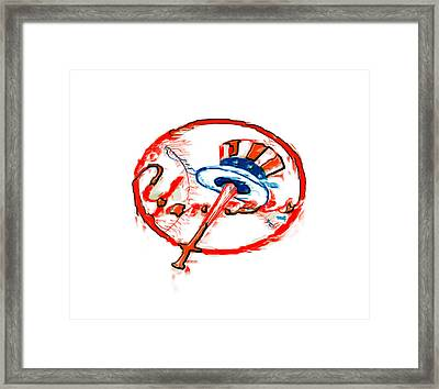 The New York Yankees Framed Print by Brian Reaves