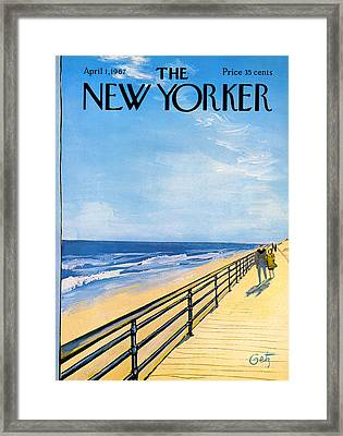 The New Yorker Cover - April 1st, 1967 Framed Print by Arthur Getz