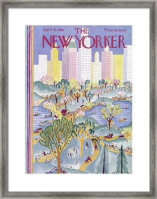 The New Yorker Cover - April 21st, 1928 Framed Print