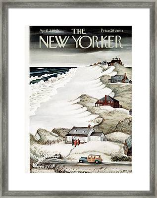 The New Yorker Cover - April 2nd, 1949 Framed Print