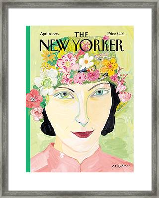 The New Yorker Cover - April 8th, 1996 Framed Print by Maira Kalman