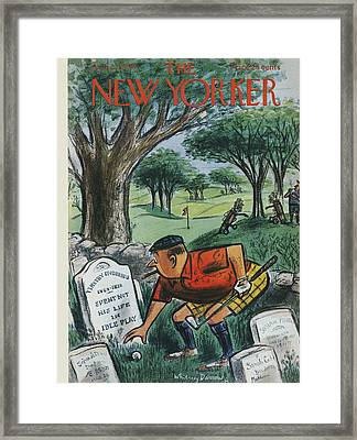 The New Yorker Cover - August 22nd, 1959 Framed Print by Conde Nast