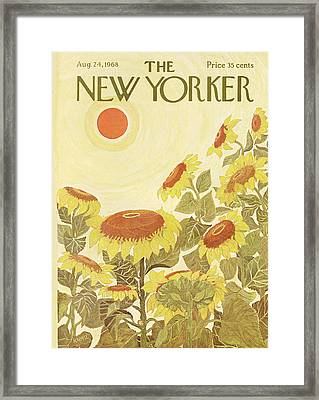 The New Yorker Cover - August 24th, 1968 Framed Print
