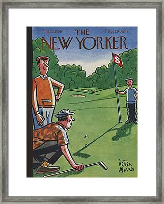 The New Yorker Cover - August 25th, 1956 Framed Print by Peter Arno