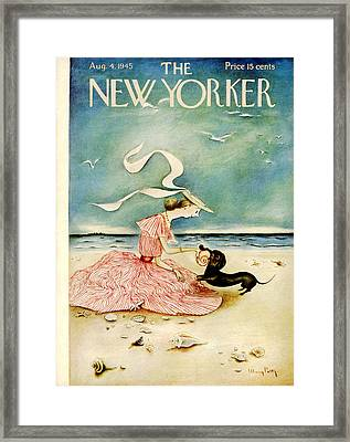 The New Yorker Cover - August 4th, 1945 Framed Print by Mary Petty