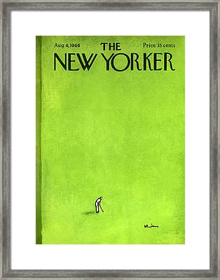 The New Yorker Cover - August 6th, 1966 Framed Print