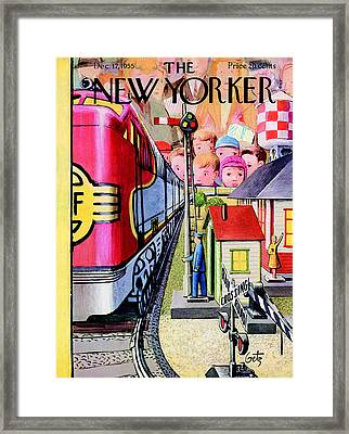 The New Yorker Cover - December 17th, 1955 Framed Print by Arthur Getz