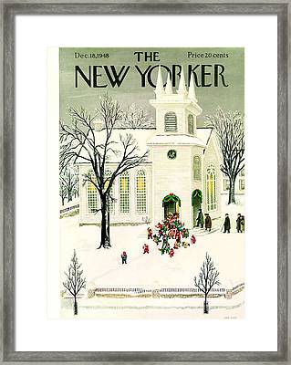 The New Yorker Cover - December 18th, 1948 Framed Print by Conde Nast