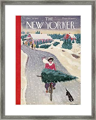 The New Yorker Cover - December 19th, 1942 Framed Print