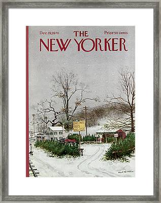 The New Yorker Cover - December 19th, 1970 Framed Print