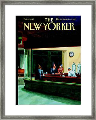 The New Yorker Cover - December 27th, 1999 Framed Print