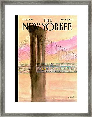 The New Yorker Cover - December 4th, 2000 Framed Print by Jean-Jacques Sempe