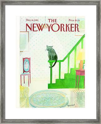 The New Yorker Cover - December 8th, 1980 Framed Print