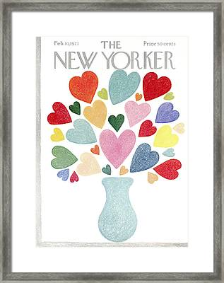The New Yorker Cover - February 10th, 1973 Framed Print